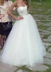 Продам свадебное платье цвет айвори р.42-44